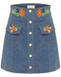 Alice McCALL Winona mini skirt - Azul