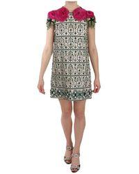 Dolce & Gabbana Bloemen Mouwen Mini Jurk - Zwart