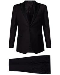 Emporio Armani Wool Suit - Zwart