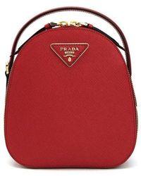 Prada Backpack 1bz047_saffiano - Rood