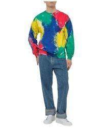 Tigran Avetisyan Multicolor Painted Sweatshirt - Rosso