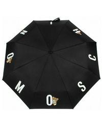 Moschino Ombrello Retraibile Open - Zwart