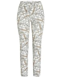 Cambio Parla Ancle Cut Trousers - Naturel