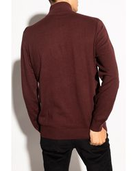 PS by Paul Smith Sweater with logo Marrón