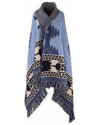 Alanui Materials shawl - Azul