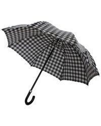 Dolce & Gabbana Check Print Umbrella - Zwart