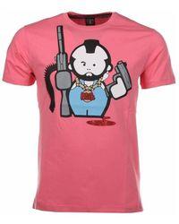 Local Fanatic T-shirt Human Gun - Roze