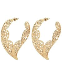 Gas Bijoux 'paule' Earrings With Logo - Naturel