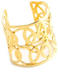 Kenneth Jay Lane Vintage Oversize runway cuff bracelet - Giallo
