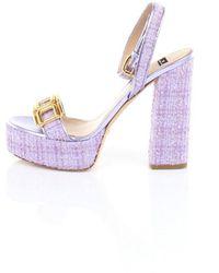 Elisabetta Franchi Sa07l13e2 Shoes - Paars