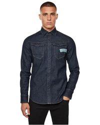 G-Star RAW D17533 C437 Arc 3d-aw Shirts - Blauw