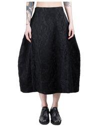 Simone Rocha Sculpted Skirt - Zwart