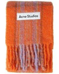 Acne Studios Check Scarf - Orange