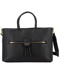 Gianni Chiarini Handbag In Textured Leather - Zwart