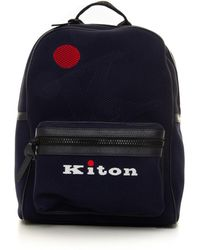 Kiton Canvas rucksack - Blu
