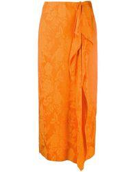 The Attico 202wcs05 V012 Gonne - Oranje