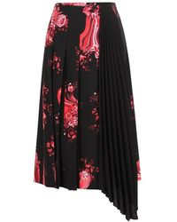 Vivetta Floral Print Midi Skirt - Zwart