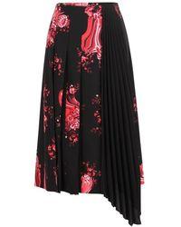 Vivetta Floral print midi skirt - Negro