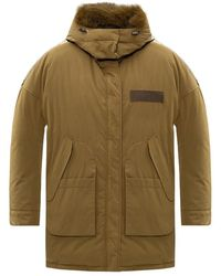 Yves Salomon Reversible Down Coat - Groen