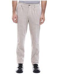 PT Torino Pantaloni In Velluto Con Pinces - Wit