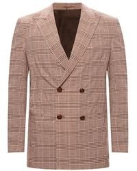 Nanushka Checked blazer - Marrone