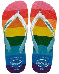 Havaianas Chanclas Brasil Top Pride Allover - Blauw