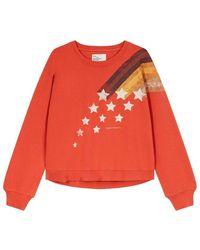 Leon & Harper Sweatshirt sortie comet rust - Orange