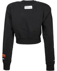 Heron Preston Sweatshirt Cropped HP Warped Negro