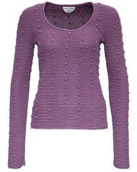 Bottega Veneta Sweater With Pompon Detail - Paars