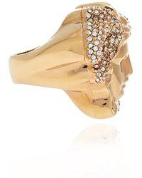 Versace Anillo de bronce Beige - Neutro