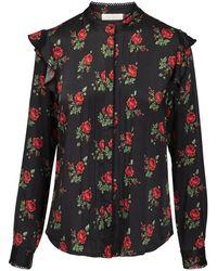 Notes Du Nord Destiny Shirt Silk Shirt - Zwart
