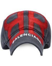 Balenciaga Baseball Cap With Logo - Grijs