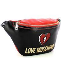 Love Moschino Patch belt bag Negro