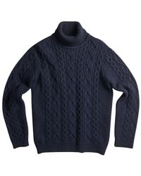 NN07 Bert Turtleneck Sweater - Blauw