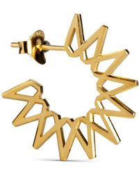 Jane Kønig Small Sun, gold plated sterling silver - Giallo