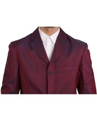 Romeo Gigli Patterned Suit Rojo