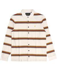 Lyle & Scott Heavy Stripe Overshirt - Naturel