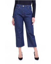 MM6 by Maison Martin Margiela S52la0138s30460 Cropped Jeans - Blauw