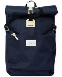 Sandqvist Ilon canvas backpack - Blau