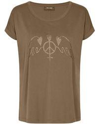 Mos Mosh Alba Ss Tee Toppe & T-shirts 134930 - Bruin