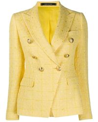 Tagliatore 6-button Double Breasted Jacket - Geel