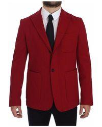 Dolce & Gabbana Cotton Stretch Blazer - Rood