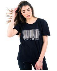 Liu Jo T-shirt With Strass - Zwart