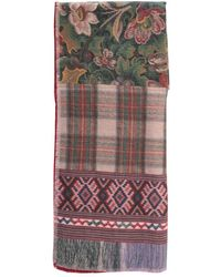 Pierre Louis Mascia Wash Printed Scarf With Fringes - Bruin