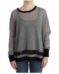 CoSTUME NATIONAL Embellished asymmetric sweater - Grigio