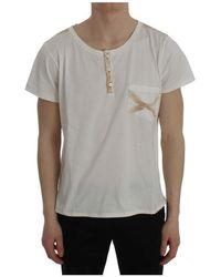 Ermanno Scervino Cotton henley beachwear t-shirt - Blanc