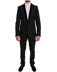 Dolce & Gabbana Tuxedo Slim Fit Smoking - Zwart