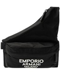 Emporio Armani Shoulder Bag With Logo - Zwart