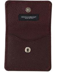 Dolce & Gabbana Dauphine Leather Pocket Case Rojo