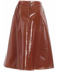 Vivetta Patent A Skirt - Marron